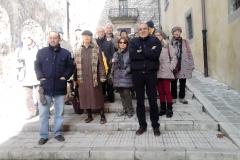 Il gruppo della visita